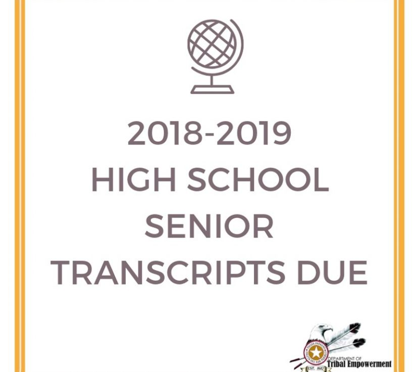 Seniors: High School Transcripts DUE!